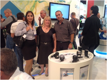 Gold Patents team with Aram Arad - Water mearsurement accessories at WATEC 2013